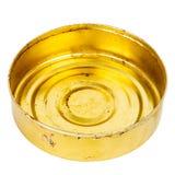 Grungy round metal tin can Stock Photos