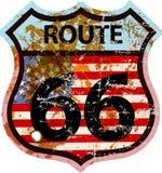 Grungy route 66 verkeersteken vector illustratie