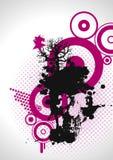 Grungy roze schedel, vector Stock Illustratie
