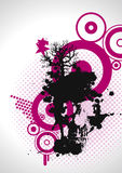 Grungy roze schedel, vector Stock Afbeelding