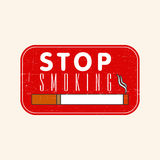 Grungy rubber stamp for No Smoking Day. Royalty Free Stock Photos