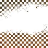 Grungy schaakbord royalty-vrije illustratie