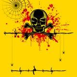 Grungy Schedel vector illustratie