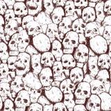 Grungy Schedel royalty-vrije illustratie