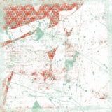 Grungy Schneeflockehintergrund-Weihnachtsthema Lizenzfreies Stockbild