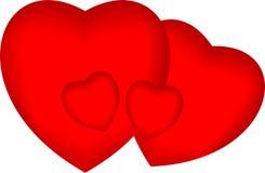 Heart shape for love symbols VECTOR Royalty Free Stock Photo