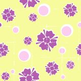 Grungy seamless retro floral background stock illustration