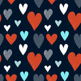 Grungy seamless vector heart pattern Royalty Free Stock Photography