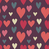 Grungy seamless vector heart pattern Stock Photo