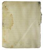 Grungy Seite des Notizbuches Lizenzfreie Stockbilder