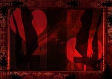 Grungy sexy silhouet Royalty-vrije Stock Afbeelding
