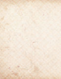 Grungy Shabby Chic ledger paper. With stains and checked pattern Royalty Free Stock Image