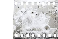 Grungy skrapad filmram Royaltyfri Bild