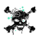 Grungy skull Stock Photo