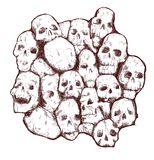 Grungy skull Royalty Free Stock Photography