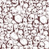 Grungy skull Stock Photos