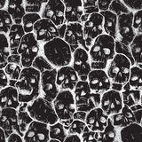 Grungy skull pattern Royalty Free Stock Photos
