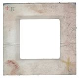 Grungy slide. Worn grunge slide - cardboard frame, free picture space Royalty Free Stock Photos