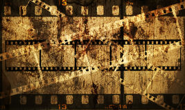 Grungy slide background. Battered grungy 35mm slides, scratches, grotty and spotty, background illustration Royalty Free Stock Images