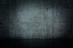 Grungy and smooth bare concrete wall Royalty Free Stock Images