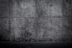 Grungy and smooth bare concrete wall Royalty Free Stock Image