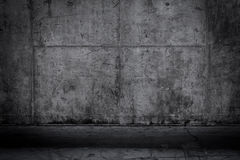 Grungy and smooth bare concrete wall Royalty Free Stock Photos