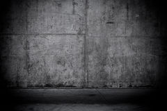Grungy and smooth bare concrete wall Stock Photography