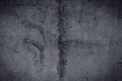 Grungy and smooth bare concrete wall for background Royalty Free Stock Photography