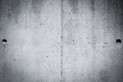 Grungy and smooth bare concrete wall for background Stock Image