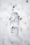 Grungy snow footstep Royalty Free Stock Image
