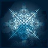 grungy snowflake Royaltyfria Bilder