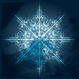 grungy snowflake stock illustrationer
