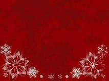 grungy snowflake för kant Arkivfoto