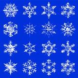 Grungy Snowflakes Royalty Free Stock Photos