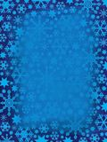 Grungy Snowflakes Border stock photography