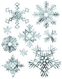 Grungy Snowflakes Royalty Free Stock Photos