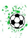 Grungy soccer ball Stock Photos