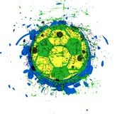 Grungy soccer / football ball, Stock Photo