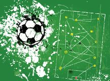 Grungy soccer football, Royalty Free Stock Photo