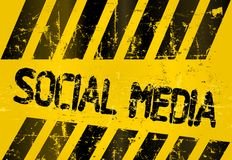 Grungy social media sign Royalty Free Stock Photography