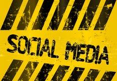 Grungy social media sign Royalty Free Stock Photography