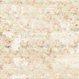 Grungy soft pastel abstract floral vintage shabby chic distressed textured wallpaper background Royalty Free Stock Images