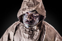 Grungy soldier Stock Images