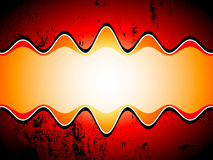 Grungy sound waves Stock Image