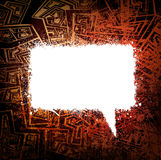 Grungy speech bubble Royalty Free Stock Images