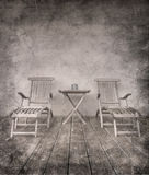 Grungy Stühle der Weinlese stockfotografie