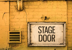 Grungy Stage Door Sign Royalty Free Stock Photography
