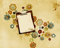 Grungy stained clipboard Royalty Free Stock Photo