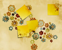 Grungy stained post it notes Stock Images