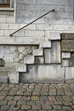 Grungy staircase in industrial site Stock Images